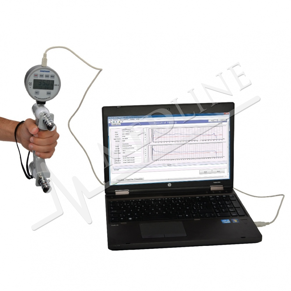 Hand Dynamometer Software : Medline digitale handdynamometer
